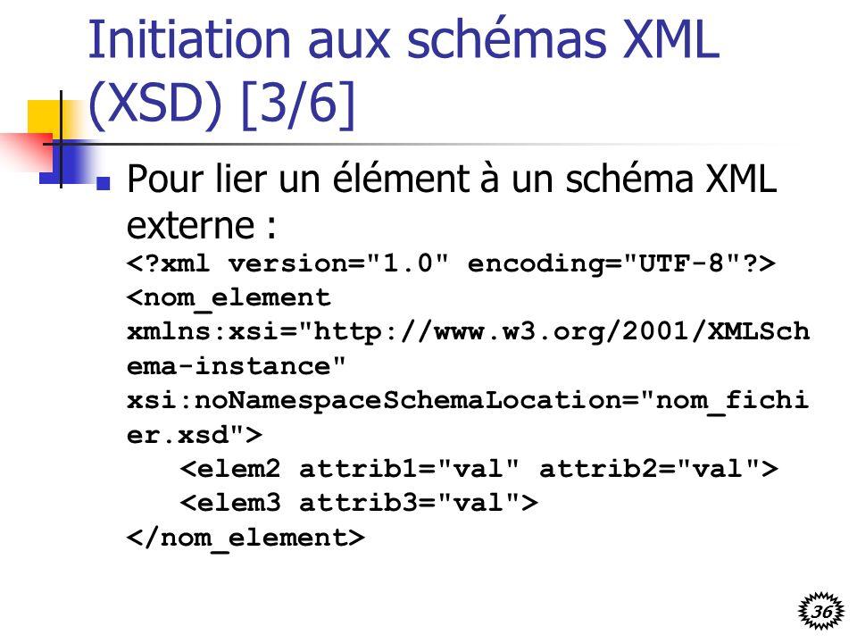 Initiation aux schémas XML (XSD) [3/6]
